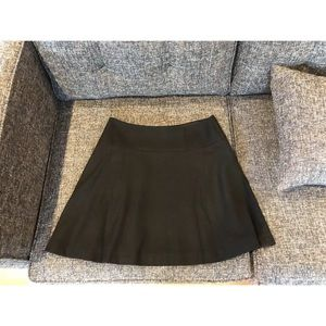 Boden Black Wool Skater Mini Skirt